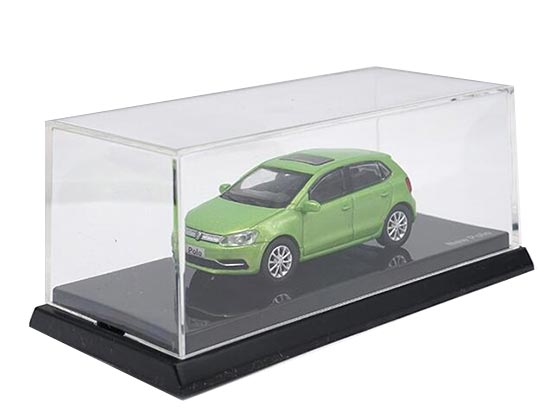 1:64 Scale Green Diecast Volkswagen New Polo Model