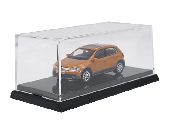 1:64 Scale Orange Diecast Volkswagen Cross Polo Model