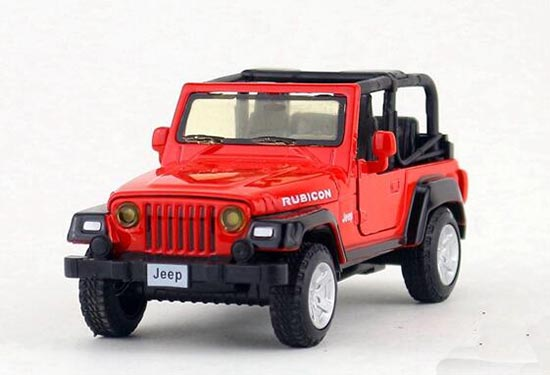 1:32 Scale Kids Diecast Jeep Wrangler Rubicon Toy