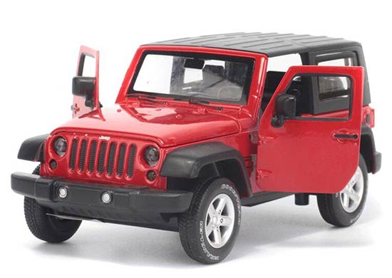 Red / White / Green / Blue Diecast Jeep Wrangler Rubicon Toy