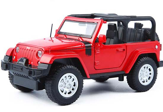 Red / White / Yellow 1:32 Scale Diecast Jeep Wrangler Toy