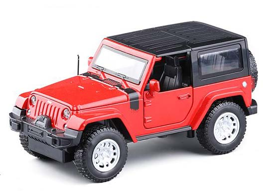 1:32 Scale Yellow / Red / White Diecast Jeep Wrangler Toy
