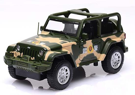 Police 1:32 Scale Camouflage Diecast Jeep Wrangler Toy