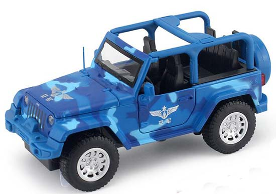 1:32 Scale Kids Blue Diecast Jeep Wrangler Toy