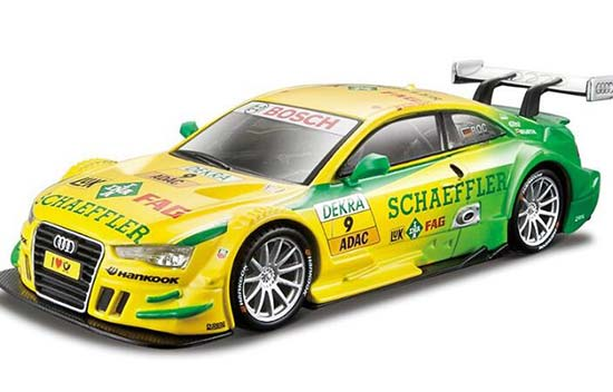 Blue / Yellow 1:32 Scale Bburago Diecast Audi A5 DTM Toy