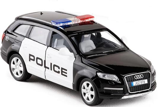 1:32 Scale Police White-Black Diecast Audi Q7 Toy