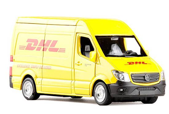 Yellow 1:36 Scale DHL Diecast Mercedes Benz Sprinter Toy