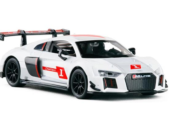 1:30 Scale Kids White Diecast Audi R8 LMS Sport Toy