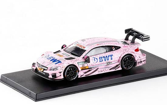 Kids 1:43 Scale Pink Diecast Mercedes-Benz C63 AMG DTM Toy