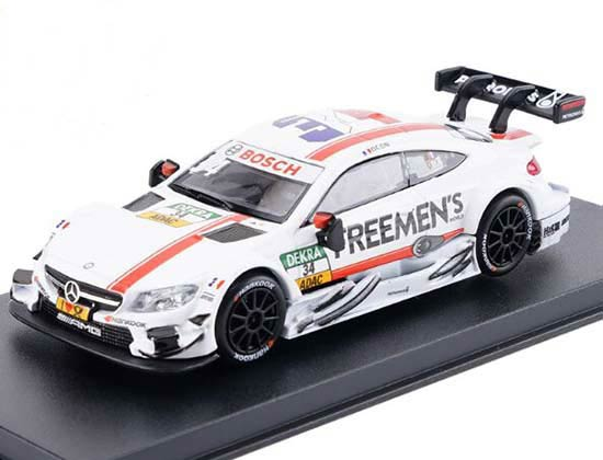 White Kids 1:43 Scale Diecast Mercedes-Benz C63 AMG DTM Toy