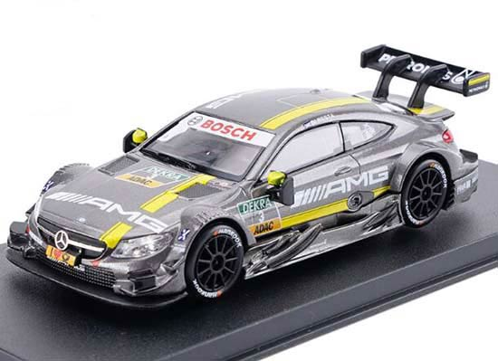 Kids Gray 1:43 Scale Diecast Mercedes-Benz C63 AMG DTM Toy