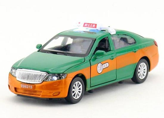 Kids Green / Red / White / Blue Diecast BeiJing Taxi Toy