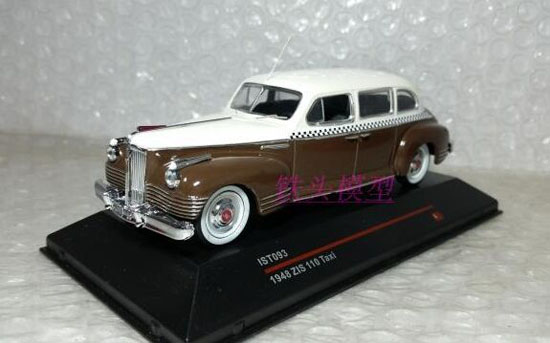 1:43 Scale Brown Diecast IST093 1948 ZIS 110 Taxi Model