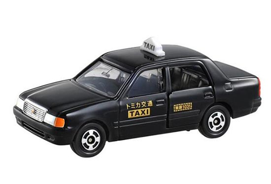 Kids 1:63 Scale Black TOMY Diecast Toyota Crown Taxi Toy