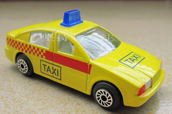 Yellow 1:64 Scale Kids Diecast Taxi Toy