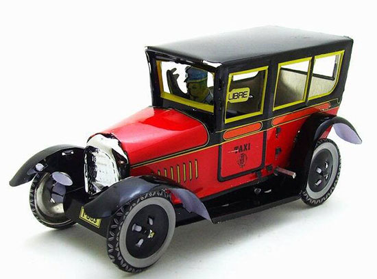 Red Tinplate Vintage Design Taxi Model