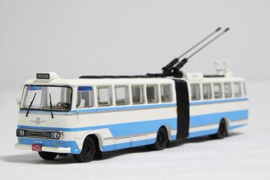 Blue-White 1:76 Scale Die-Cast ShangHai Articulated Tram Model