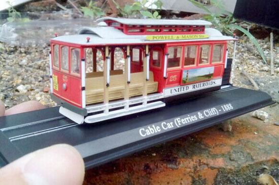 Atlas 1:87 Red Cable Car Ferries Cliff 1888 Tram Model